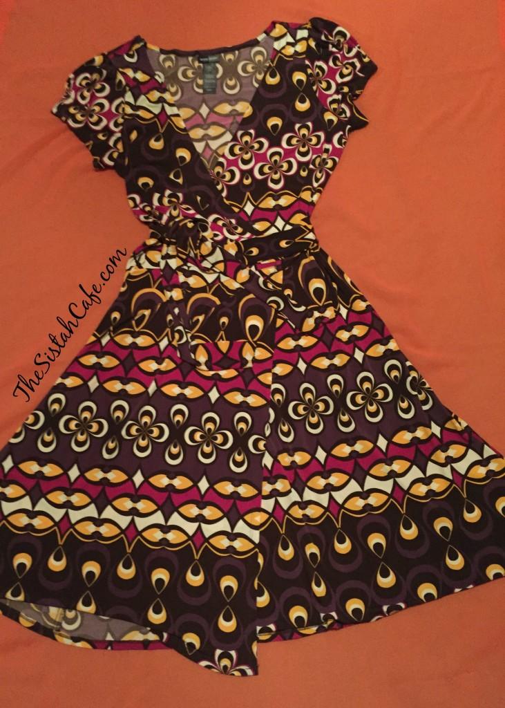 Bisou Bisou Multi Colored Wrap Dress
