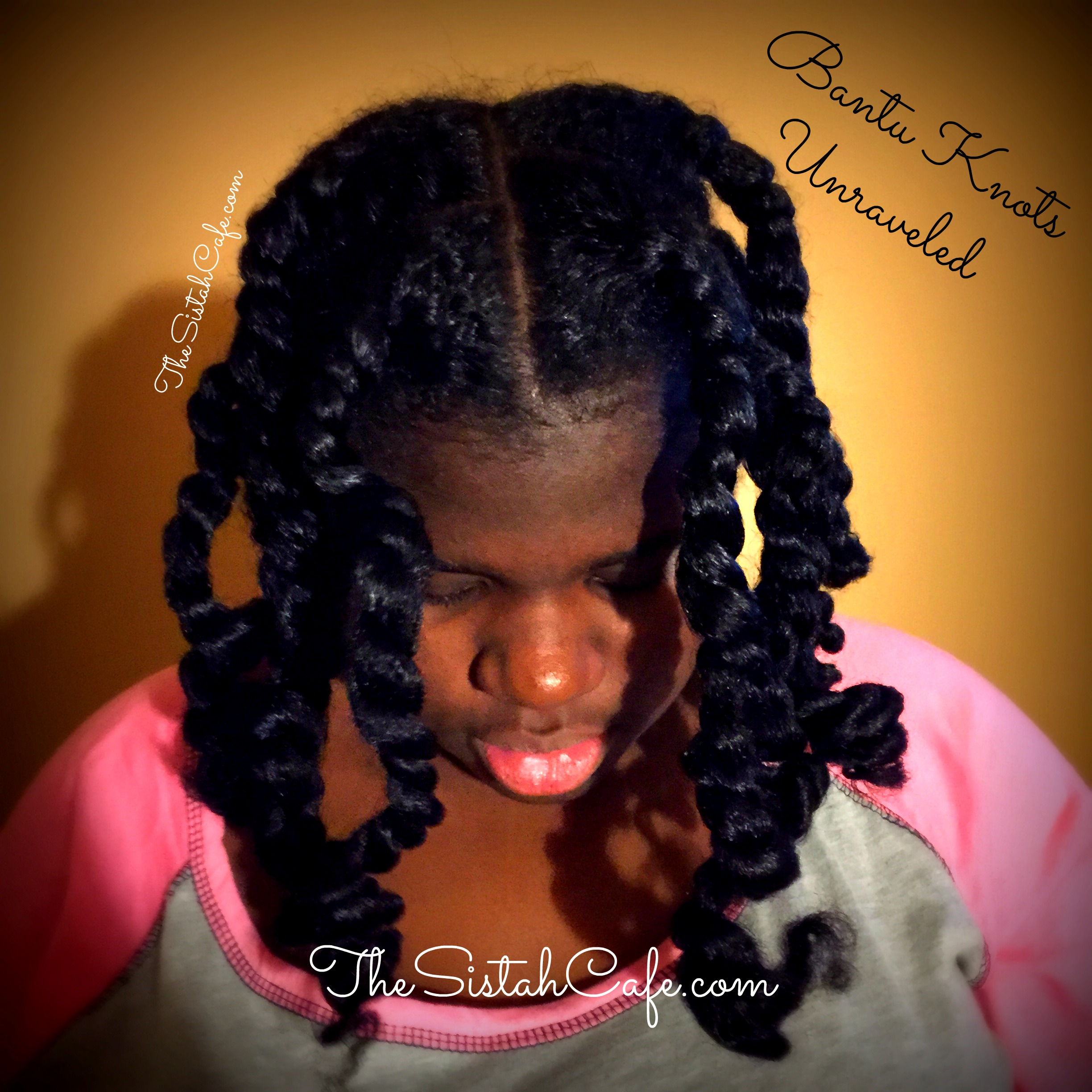 How To Stretch Natural Hair Using Bantu Knots The Sistah Cafe