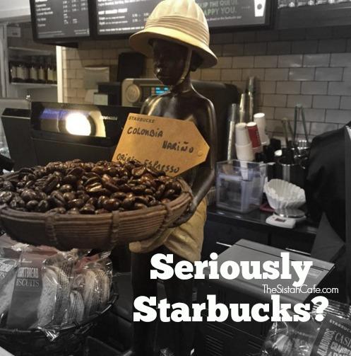 Starbucks Black Child Statue